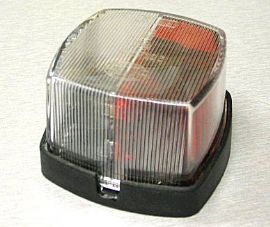 Hella Square Red/White Marker Light